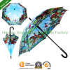 Цифров Printing Automatic Stick Umbrella для картины маслом (SU-1423BF)