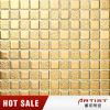 Mosaico de cerámica del color clásico del oro para la pared