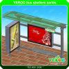 Estructura de metal muebles de exterior Publicidad parada de autobús de la Vivienda