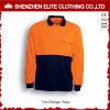 仕事着のオレンジ長い袖の安全ポロシャツ(ELTSPSI-8)