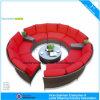 Sofá redondo de la rota del sofá del jardín moderno al aire libre de mimbre seccional de los muebles (CF1004)