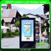 Bildschirm alleine im Freienbekanntmachensimprägniern Standplatz-LCD