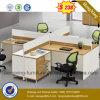 Kirschbüro-Möbel-Melamin-Arbeitsplatz-Büro-Partition (HX-6M199)