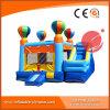 Im Freien Handelsballon-Thema-aufblasbares kombiniertes Schloss mit Plättchen (T3-112)