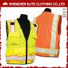 黄橙色のこんにちは可視性PVC作業道路の安全ベスト(ELTHVVI-29)