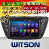 Véhicule DVD de l'androïde 5.1 de Witson pour la S-Croix 2013-2015 de Suzuki avec l'incrustation de la fonte DVR d'Internet du WiFi 3G de ROM de Rockchip 3188 1080P 16g de faisceau de quarte (W2-F9656X)