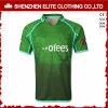 Rugby sublimé personnalisé Jersey (ELTRJI-7) de vert de mode