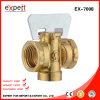 Válvula de gas de cobre amarillo