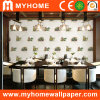 Papel de parede moderno do painel de parede do PVC do branco para paredes