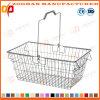 Cesta de compras de la maneta de alambre del metal sola del supermercado amontonable del acoplamiento (Zhb140)