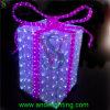 2016 luces decorativas al aire libre comerciales del adorno de la caja de regalo de la Navidad del LED