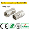 RoHS Audio et Video Broadcast Coaxial Cable F Polygon Connector (4-136G)