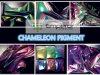 El Irregular de cristal del camaleón forma escamas para el polaco de clavo (WWW-pigmentpigment-COM)