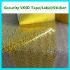 シールのカートンのためのカスタム機密保護ボイドテープ; 盗難防止の無効テープ