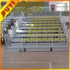 Juyi 공장 가격 옥외 축구 금속 프레임 HDPE 플라스틱 UV 퇴색 철회 가능한 Bleacher에 의하여 설치되는 지면 착석