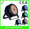 la IGUALDAD de 36W 18PCS puede iluminación plana de DJ de la luz del LED
