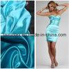Stof van het Satijn van de rek de Poly voor Dame Dress Fabric