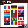 新しいデザイン世界によって刺繍される国旗パッチ