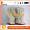 Handschoen van de Bestuurder van de Veiligheid van de Voering van het Leer van de Korrel van het varken de Werkende (DLD412)
