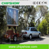 Tela de exposição móvel do diodo emissor de luz do caminhão P10 flexível de Chipshow