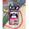 Perro dominante del collar del amor en la caja de goma de las gafas de sol para iPhone6