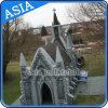Tente gonflable d'église avec le modèle personnalisé, construction gonflable pour le mariage, fête de Noël, camper extérieur
