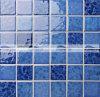 mosaico cerâmico azul vitrificado cristal da flor de 48X48mm (BCK009)