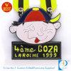 만화 작풍에 있는 사기질 금속 프랑스 주문 모조 연약한 Goza 메달