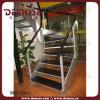 豪華なカスタム鋼鉄縦桁の木製のステアケース(DMS-2005)
