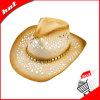 인쇄된 서류상 끈목 밀짚 모자 카우보이 모자