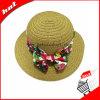 Chapéu feito malha Sun flexível do chapéu da palha de papel