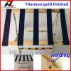 Titangoldröhrenhotel-Metallgepäck-Zahnstange Guangzhou-Shaxi/Edelstahl-Gepäck-Zahnstangen-Lieferant (Hz-K053B)
