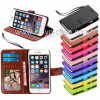 Cartes de crédit folles Slots Holder Book Stand Mobile Magnet Flip Wallet Leather Cover Cas d'identification de Horse pour l'iPhone 6s 4.7  6s Plus