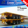 Transporting 20ft/40ft Containerのための3つの車軸Flatbed Trailer