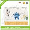 Подгонянный бумажный календар стола печатание (QBP-25)