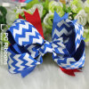 Three por atacado Colors Chevron Hair Bow para Celebrate