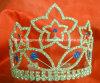 Tiara da representação histórica do Rhinestone, coroa H-38058 da representação histórica, tiara Wedding, tiara nupcial, princesa Tiara