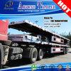 Reboque Flatbed do caminhão do recipiente de 2 eixos para Kenya com fechamentos