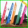 Drapeaux de plage extérieurs de vinyle de drapeau de bannière de plume de stand libre de coutume