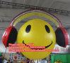 Club Decoration를 위한 Earphone를 가진 팽창식 Cute Smiling Balloon