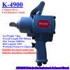 Tipo chave de torque pneumática K-4900 da pistola da movimentação quadrada de 1 polegada