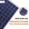Energia solar das vendas por atacado do painel solar poli de Hanwha 250W-275W picovolt