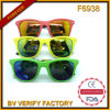 2015 widergespiegeltes Plastikunisexsunglass, bunte Sonnenbrillen (F6938)