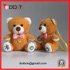 Brinquedo cor-de-rosa do luxuoso do bordado do brinquedo do luxuoso do urso do brinquedo do luxuoso da curva