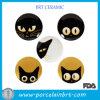 Restaurante creativo dos pratos cerâmicos de olho de gato