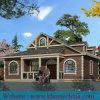 Modernes konzipiertes Stahlkonstruktion-gestaltetes Fertiglandhaus