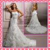 Мантия Tulle без бретелек шнурка Bridal цветет платье венчания A185