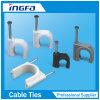 Ronda Clips de cable con clavo de acero
