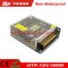 12V 8A 100W LED 변압기 AC/DC 엇바꾸기 전력 공급 Htp