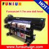 Impressora solvente do grande formato da impressora de Funsunjet 10feet 1700mm Eco com cabeças de 2dx 7/Dx5